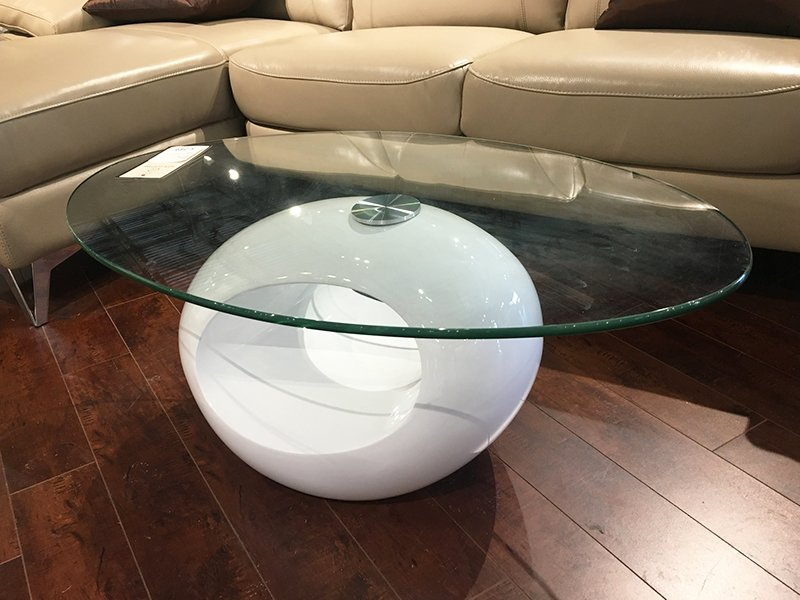 Condo Size Oval Coffee Table White Home Quarters Furnishings